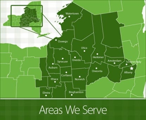 Map of our service area